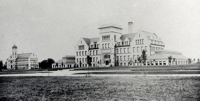hisotrical photo of Bradley Hall and Westlake