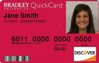 Front of Bradley QuickCard